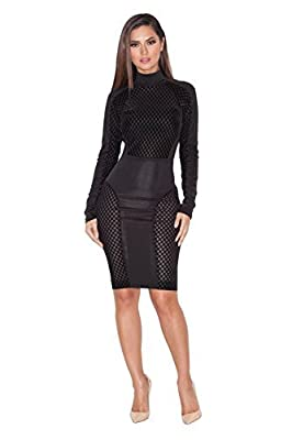 BUETYART Women Bandage Bodycon Dress Sexy Club Dress Party Midi Dress