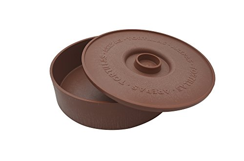 (IMUSA USA MEXI-1000-TORTW Tortilla Warmer Terracota 8.5-Inch, Light Brown Brick Color)