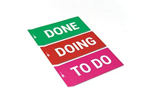 DONE Spalten Karten Set f/ür agiles Scrum board oder Kanban board 3x SPALTEN Karten // TO DO DOING