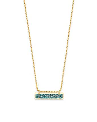 Amazon Com Kendra Scott Leanor Aqua Drusy Stone Gold