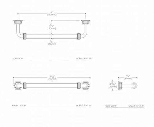 Waterworks R.W. Atlas Cylinder 6'' Pull in Brushed Nickel by Water Works (Image #2)