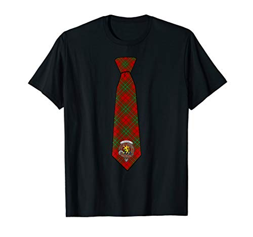 Cumming Tartan Necktie T-Shirt w/Badge