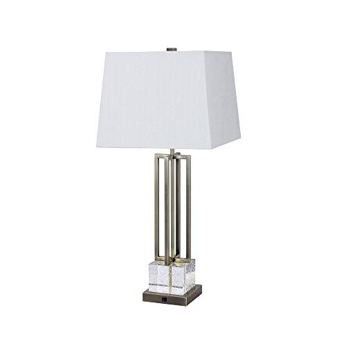 "Fangio Lighting W-1514AB Table Lamp 30"" Antique Brass"