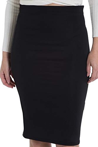 Marc Olivier Women's Pencil Skirt – a Tube/midi Skirt with an Elasticated Waist. Bodycon, Knee Length Design Perfect for…