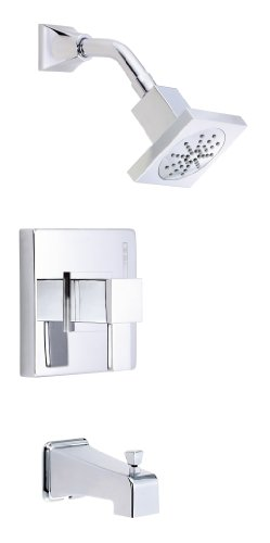 (Danze D500033T Reef Single Handle Tub and Shower Kit, Chrome)