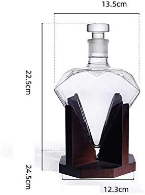 Prozessmodellierung Flaschen Diamant Wodka Wein Schiff Weinregal opasd Weinzubeh/ör Weinregal Diamant-Kristallbleifreies Glas Dekanter