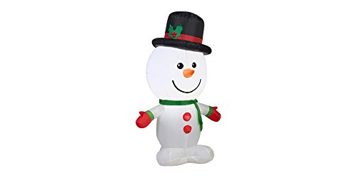 Gemmy Inflatable Lighted Snowman Christmas Outdoor Decoration Home Holiday Character Decor - 3.5' Tall