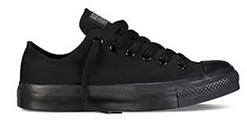 Converse All Star Ox Fashion tela, nero (Black Monochrome), 25 EU D (M)