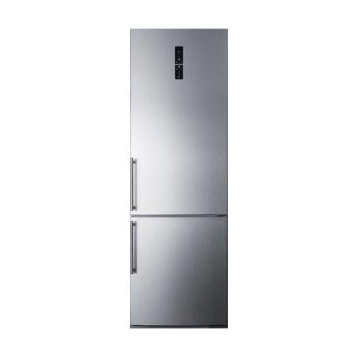 Summit FFBF249SS 24″ Counter Depth ENERGY STAR Bottom Freezer Refrigerator with Digital Control Panel, Stainless Steel