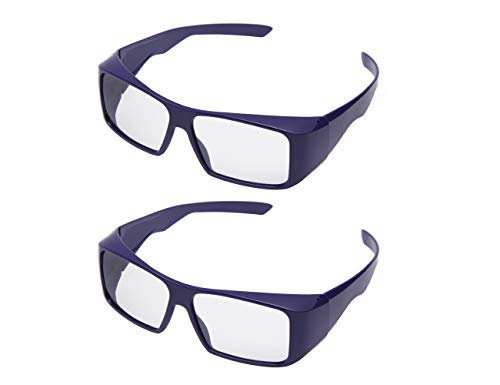 Handsun Super Clear RealD 3D Glasses for 3D Movie,3D Projector,Dream Theater, 3D TV and 3D Cinema(2PACK).
