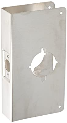 """Don-Jo 9K-CW 22 Gauge Stainless Steel Wrap-Around Plate, Satin Stainless Steel Finish, 4-3/4"""" Width x 9"""" Height, For Installing The Best and Sargent Lever Locks"""