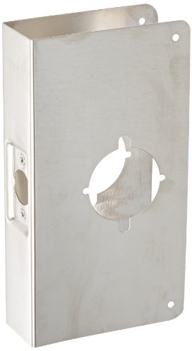 Don-Jo 9K-CW 22 Gauge Stainless Steel Wrap-Around Plate, Satin Stainless Steel Finish, 4-3/4