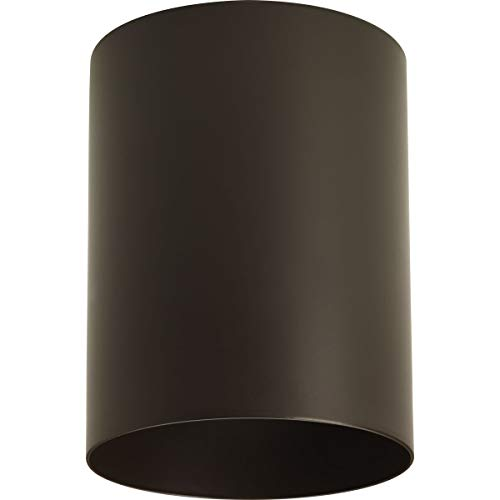 Progress Lighting P5774-20 5-Inch Flush Mount Cylinder with Heavy Duty Aluminum Construction Powder Coated Finish and UL Listed for Wet Locations, Antique Bronze
