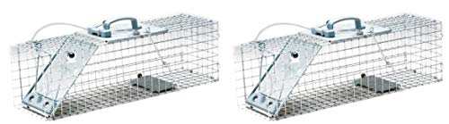 Havahart 1084 Easy Set One-Door Cage Trap for Rabbits, Skunks, Minks and Large Squirrels (Pack of 2)