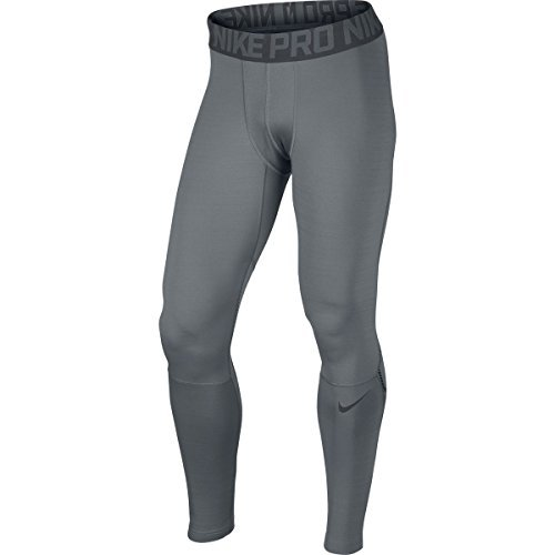 Nike Mens Pro Hyperwarm Dri-FIT Max Compression Tights (XLarge, COOL GREY/ANTHRACITE/ANTHRACITE)