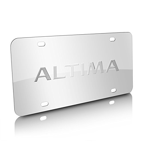 3d Nissan License Stainless Plate (Nissan Altima Chrome Stainless Steel License Plate)