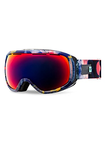 Roxy Rockferry Snow Goggles, Neon Grapefruit/Cloud Nine, One Size (Sunglasses Roxy Protection Uv)