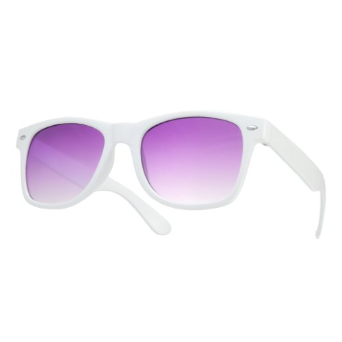 sol 4sold lensses white de o sol violet nbsp;lente gafas gafas marca UV400 de espejo New Unisex qS7ZnOt