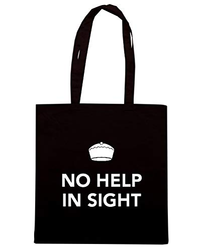 Speed Shirt Borsa Shopper Nera TKC0715 KEEP CALM AND NO HELP IN SIGHT