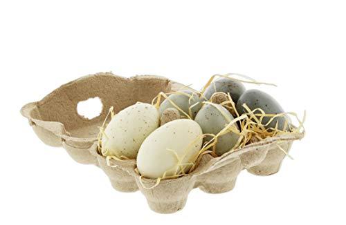 - The Bridge Collection Half Dozen Decorative Speckled Eggs in Carton