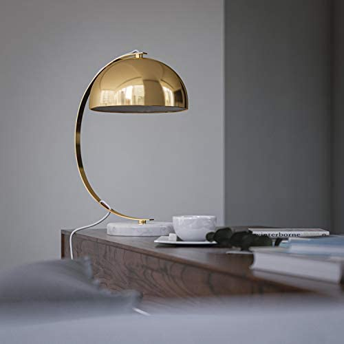 Kenroy Home Modern Desk Lamp ,17 Inch Height, 11 Inch Width, 9 Inch Ext with Plated Gold Finish with Marble Base