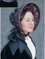Victorian Sewing Patterns- Dress, Blouse, Hat, Coat, Mens Early Victorian Bonnet Pattern $13.95 AT vintagedancer.com