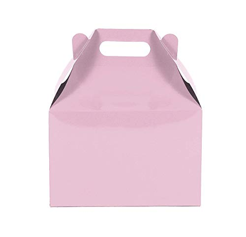 12CT (1 Dozen) Large Biodegradable Kraft/Craft Favor Treat Gable Boxes (Large, Light -