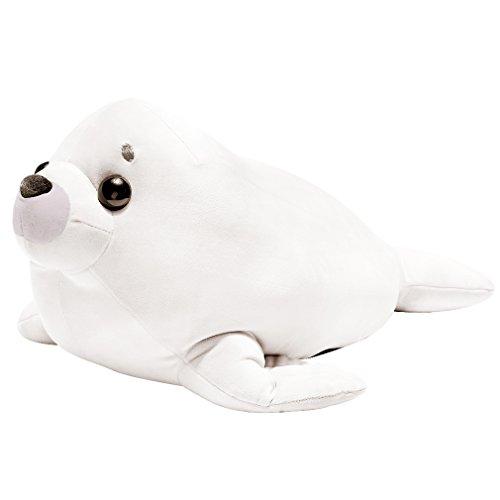 LALA HOME White Seal Plush | 28'' Large Stuffed Animal | Way