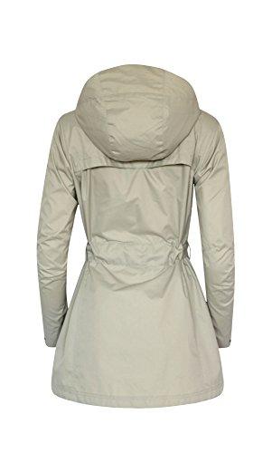 Para Gabardina Mujer Abrigo Impermeable Columbia Beige aHwfq14n8