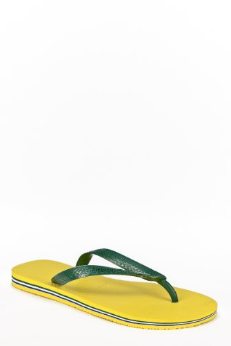 Havaianas Brazil - Classic Thong Flip Flops-Citrus Yellow,11/12 M US (Rubber Classic Thong)