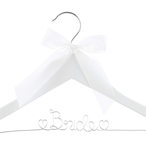 Bride to Be Hanger (White Wood Silver Wire) ()