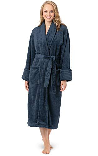 PajamaGram Womens Bathrobe Ultra Soft - Women's Fleece Robes, Indigo, XS/S, 2-6