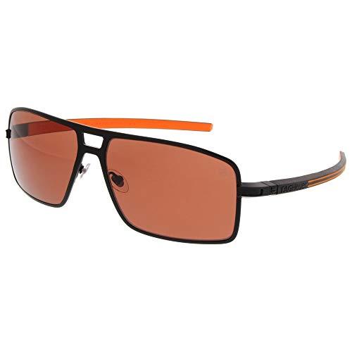 (Tag Heuer 66 0987 204 621503 Square Sunglasses, Black, 62 mm)