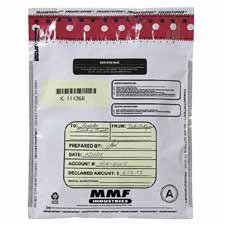 NEW - Tamper-Evident Deposit/Cash Bags, Plastic, 9 x 12, Clear, 100 Bags/Box - 2362010N20 by MMF -