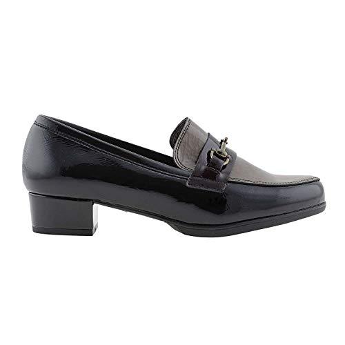 Negro Zapatos Piel Charol Piel Zapatos Charol Zapatos Negro FyCWS0