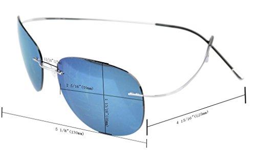 Sin De Polarizadas Gris Eyekepper Con Sol lente Titania Montura Gafas Plateado Borde 6q0xgWn7