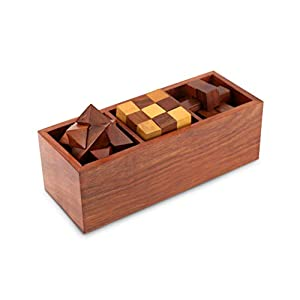 Shalininda 3-In-One Wooden 3D Puzzle...