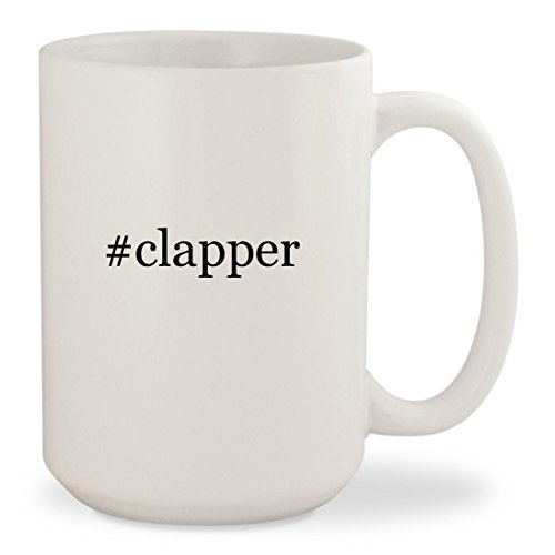 #clapper - White Hashtag 15oz Ceramic Coffee Mug Cup (Director Snap Board)