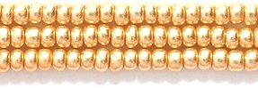 Preciosa Ornela Czech Seed Bead, Metallic Gold, Size 10/0