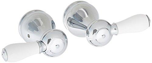 Porcelain Lever Kit (Delta Faucet H677 Leland, Two Porcelain Lever Handle Kit, Chrome)