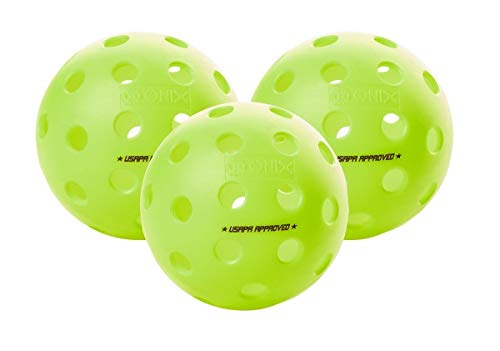 Onix Fuse G2 Pickleball Ball | Outdoor | Neon | 3 Pack by Onix