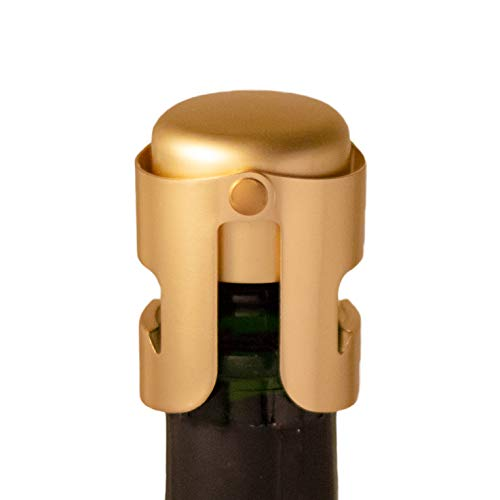 Gold Champagne Stopper, Designed in France, Bottle Sealer for Cava, Prosecco,...