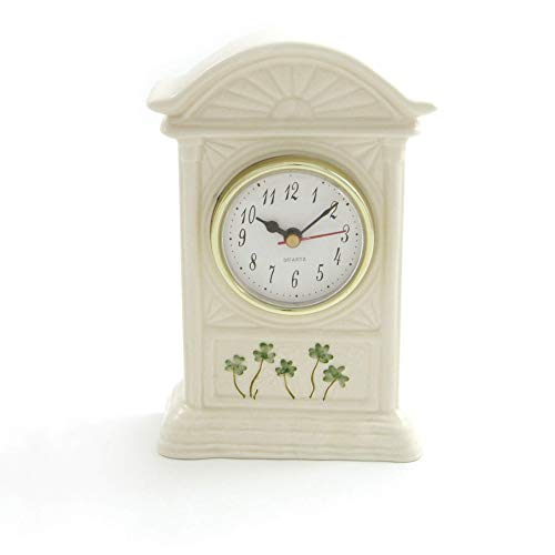 Watervale Parian China Carriage Clock with Shamrocks ()