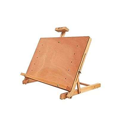 CEYZF Desktop Adjustable Easel ?Drawing Board Integrated ? Wood Lifting Sketch Watercolor Gouache Oil Painting Shelf Wood Studio Student Sketch Folding Stand 48.2X32cm