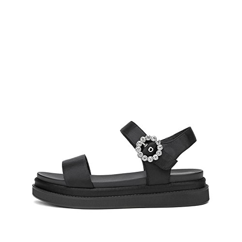 Søde Solid Sommer Mode Lave Sandaler Høje Kvinder Sort Hæle Flad Dhg 34 Farve Casual Sko Hæle Spids fTzxwTAd