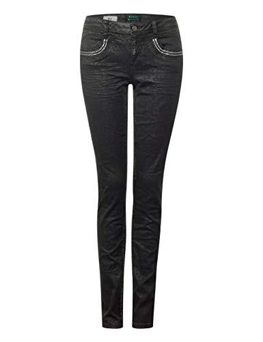 Donna black Street Jeans Multicolore 11619 Slim Denim Coating One Print wxfCqSftvW