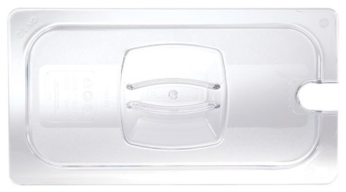 Rubbermaid Commercial Products 1/3 Size Cold Food Pan Cover with Utensil Notch (FG121P86CLR)