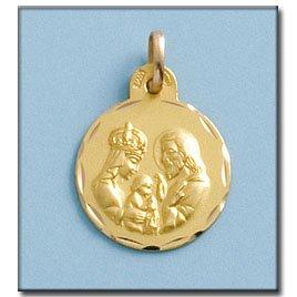Médaille D'or 18kt Sagrada Familia 17mm