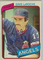 California Angels 1980 (Dave LaRoche California Angels 1980 Topps Autographed Card - Rare Card. This item comes with a certificate of authenticity from Autograph-Sports. Autographed)