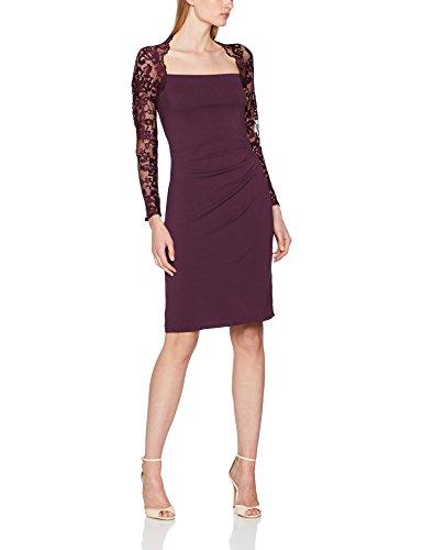Sleeved Lace Donna 56 Squash Damson Viola Elegante Dress Hot Vestito fHxwEqEF